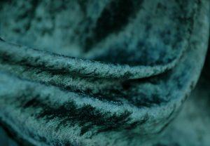 bottle green crushed velvet fabric