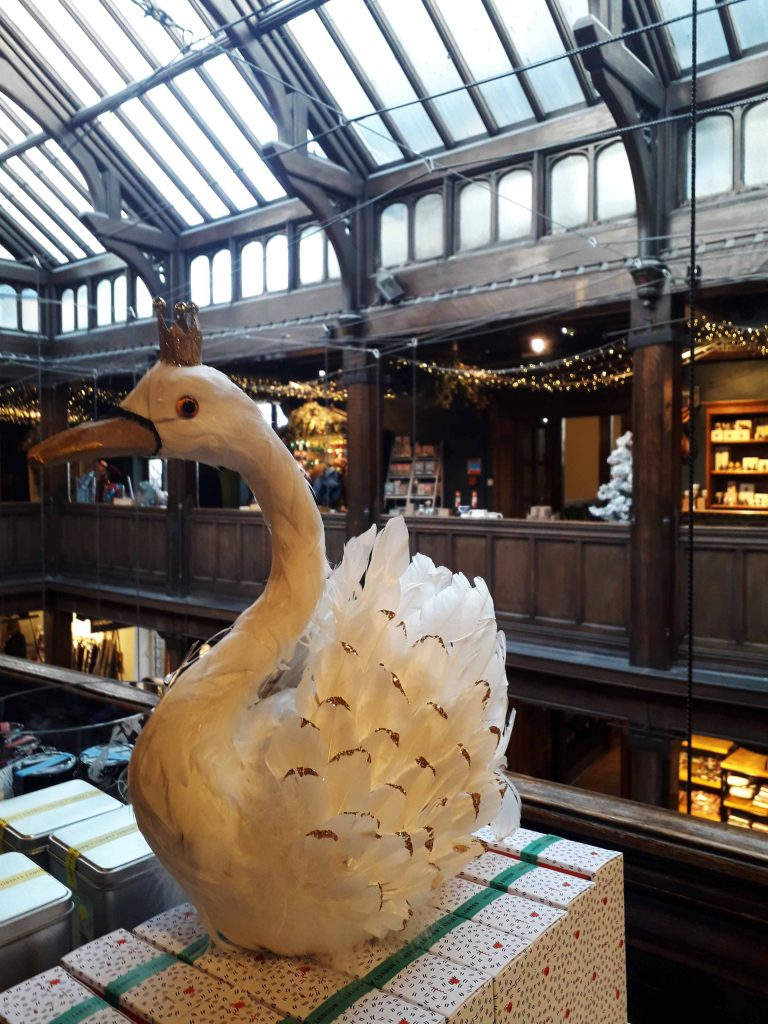 Liberty London swan in atrium