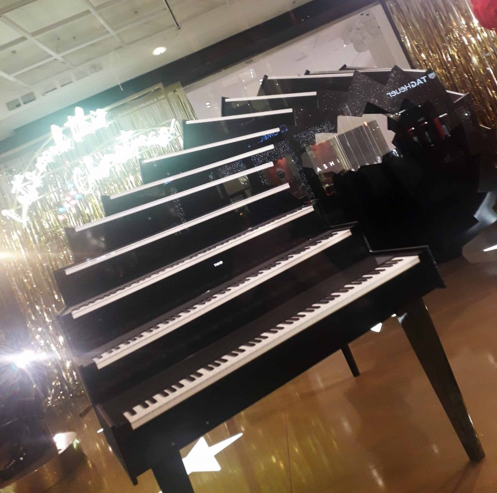 Cascading piano window 2018 Christmas at  Selfridges