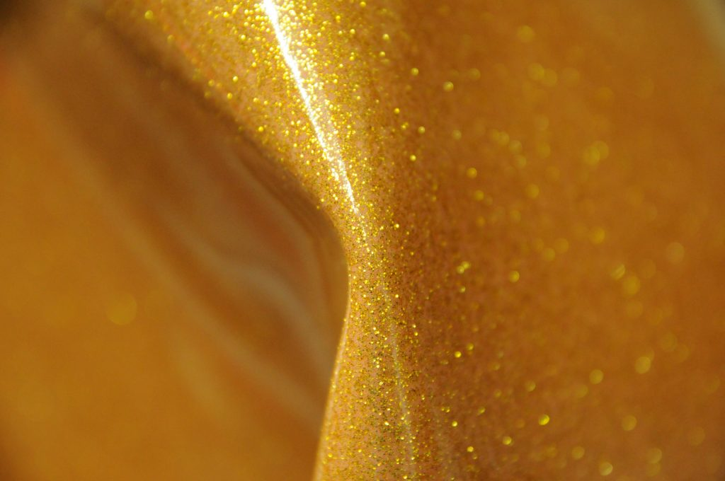 thick gold glitter gloss leatherette fabric