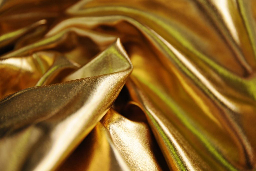 gold stretch metallic fabric