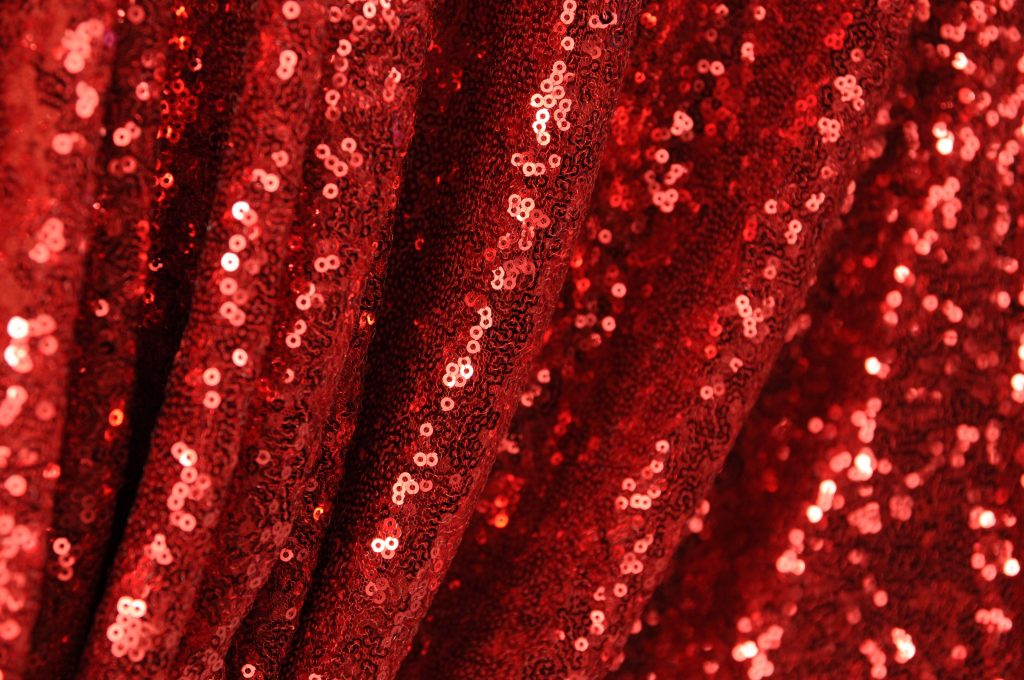 red sequin fabric