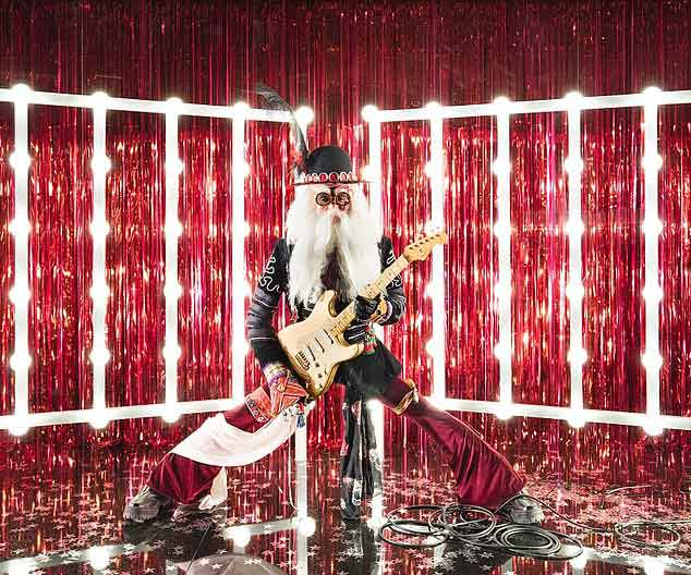 Rock star Santa Selfridges 2018 window