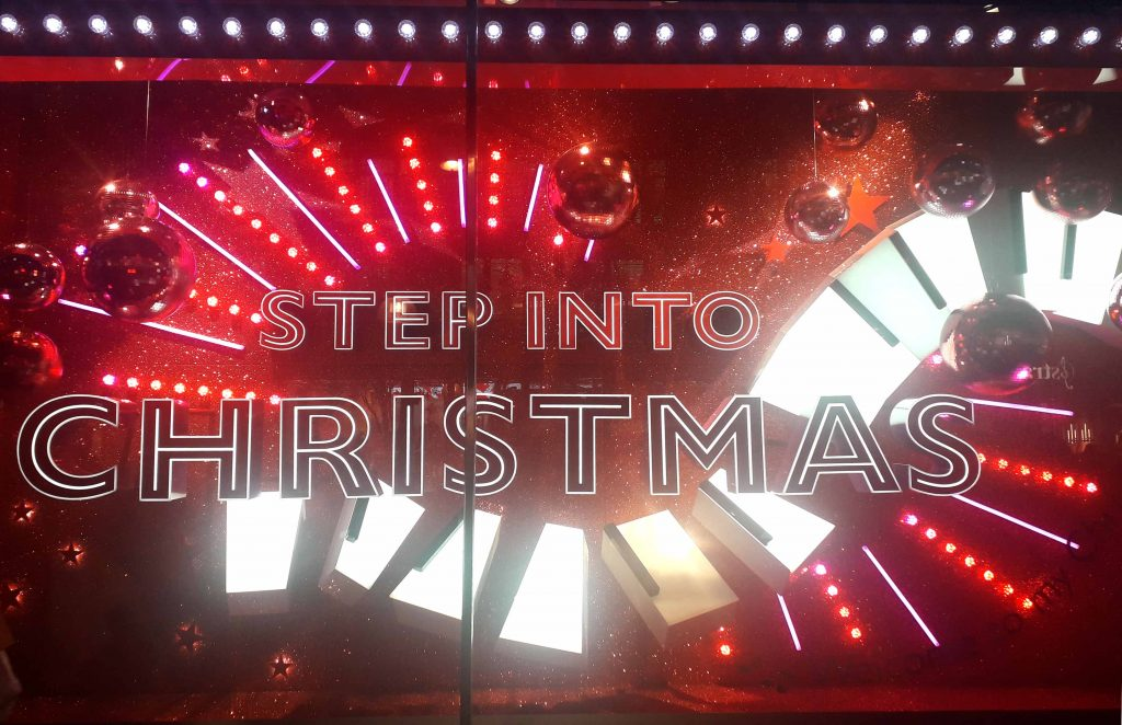 John Lewis Step into Christmas  window 2018