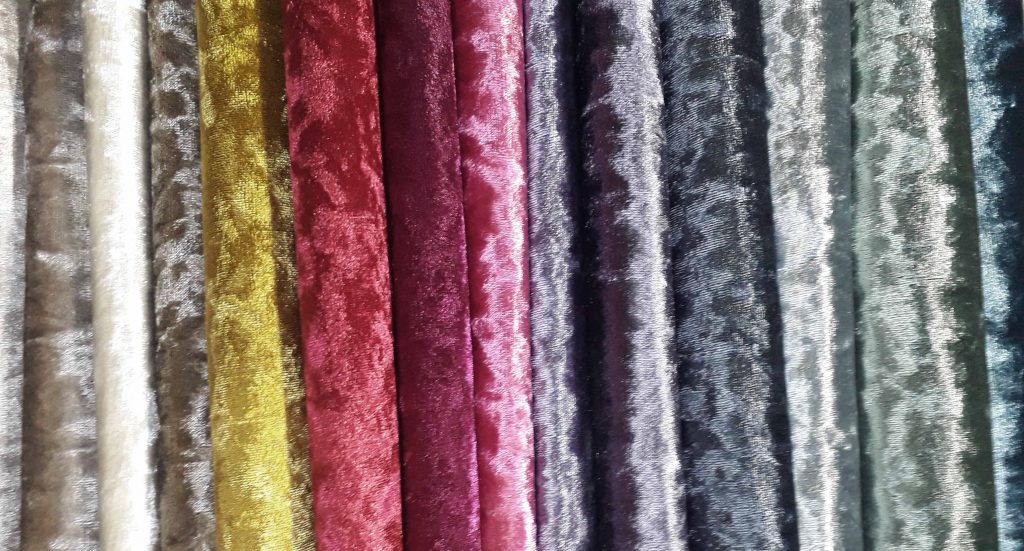 shades in bling crushed velvet range
