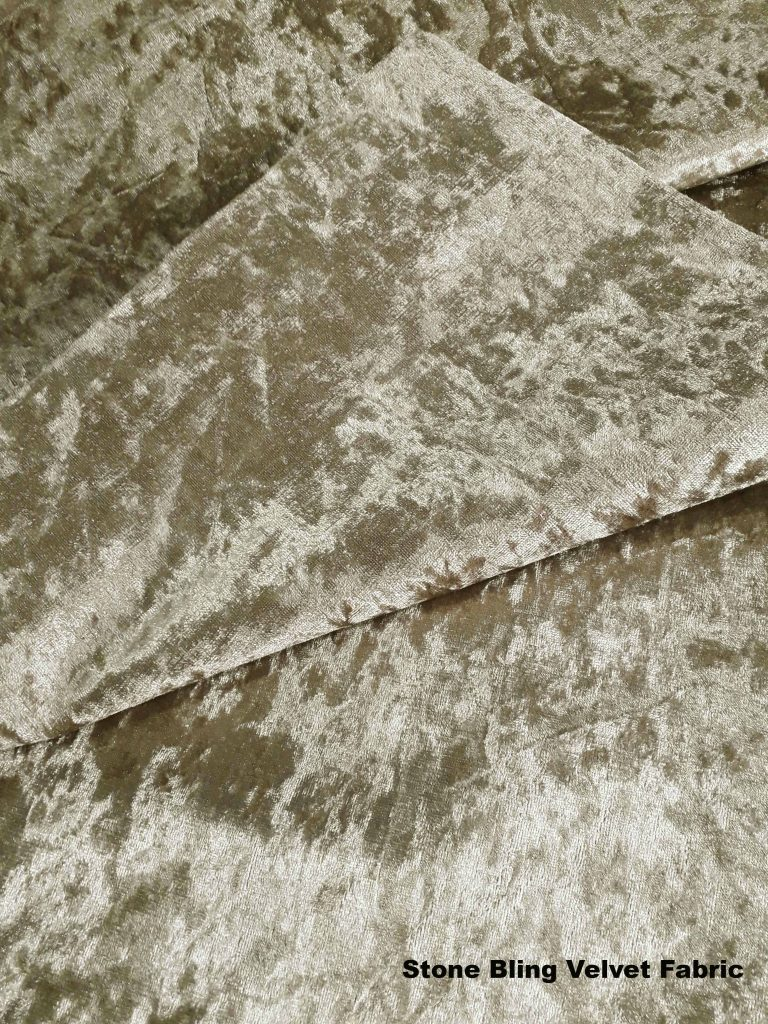 Stone Bling crushed velvet upholstery fabric