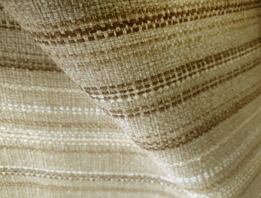 Biscuit Lomond stripe fire retardant upholstery fabric