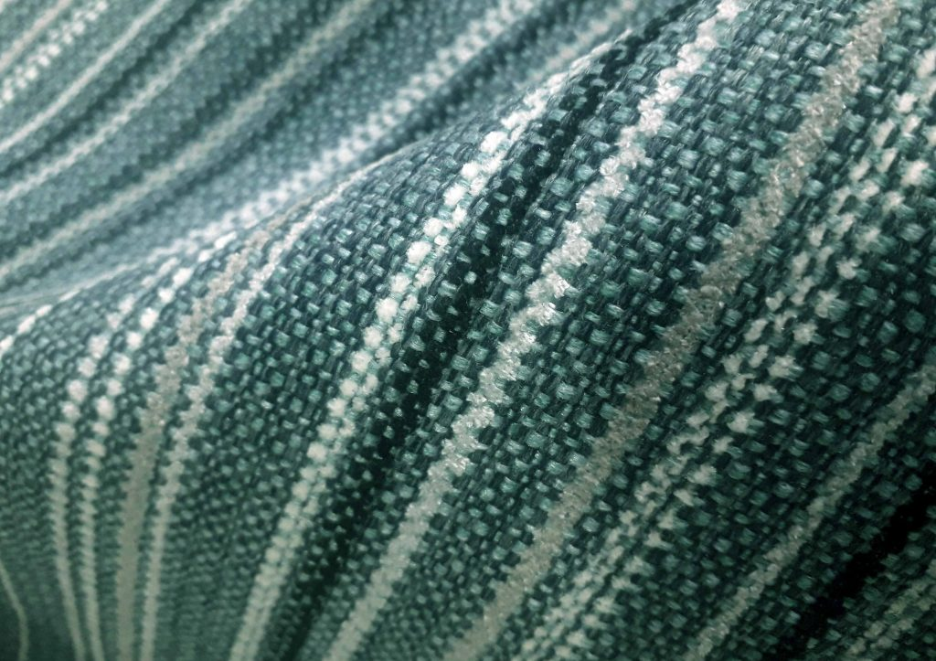 Lagoon Lomond stripe fire retardant upholstery fabric