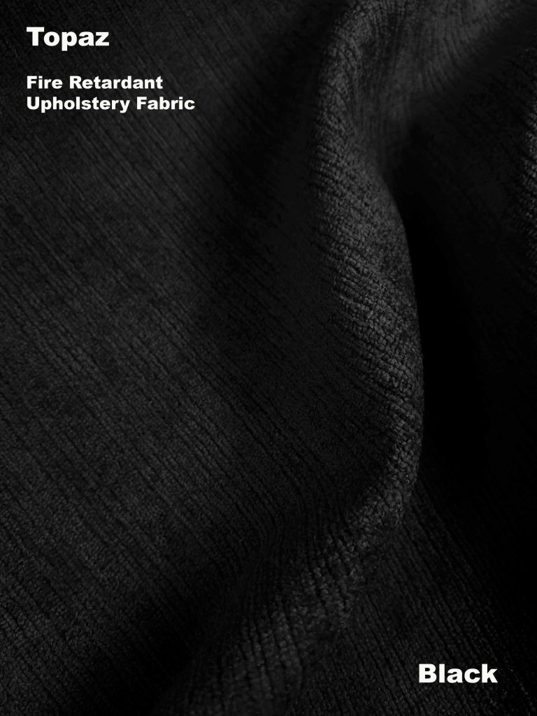 Black Topaz upholstery fire retardant fabric
