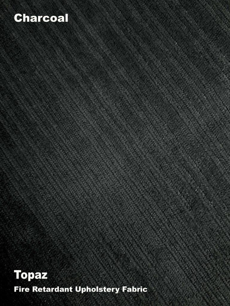 Charcoal Topaz upholstery fire retardant fabric