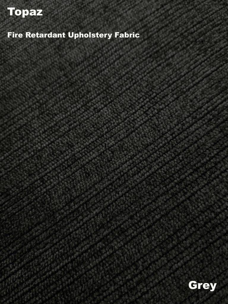Grey Topaz upholstery fire retardant fabric