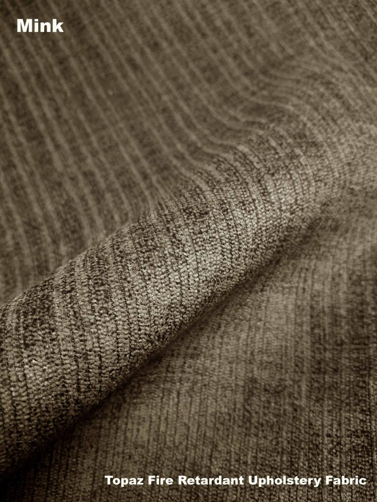 Mink Topaz upholstery fire retardant fabric