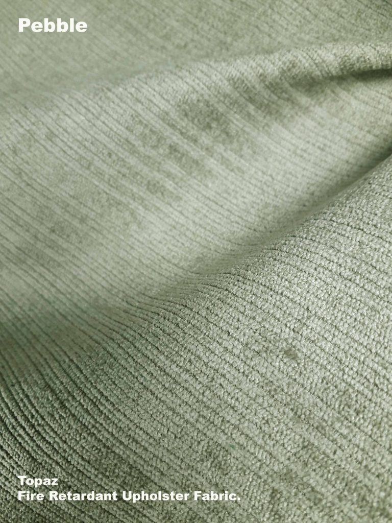 Pebble Topaz upholstery fire retardant fabric