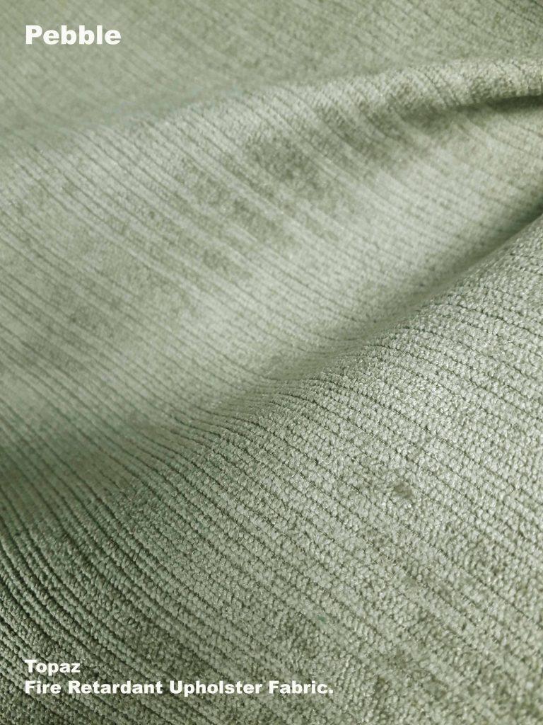 Pebble Topaz upholstery fire retardant fabric