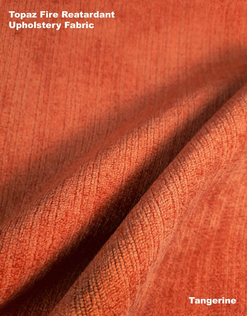 Orange tangerine Topaz upholstery fire retardant fabric