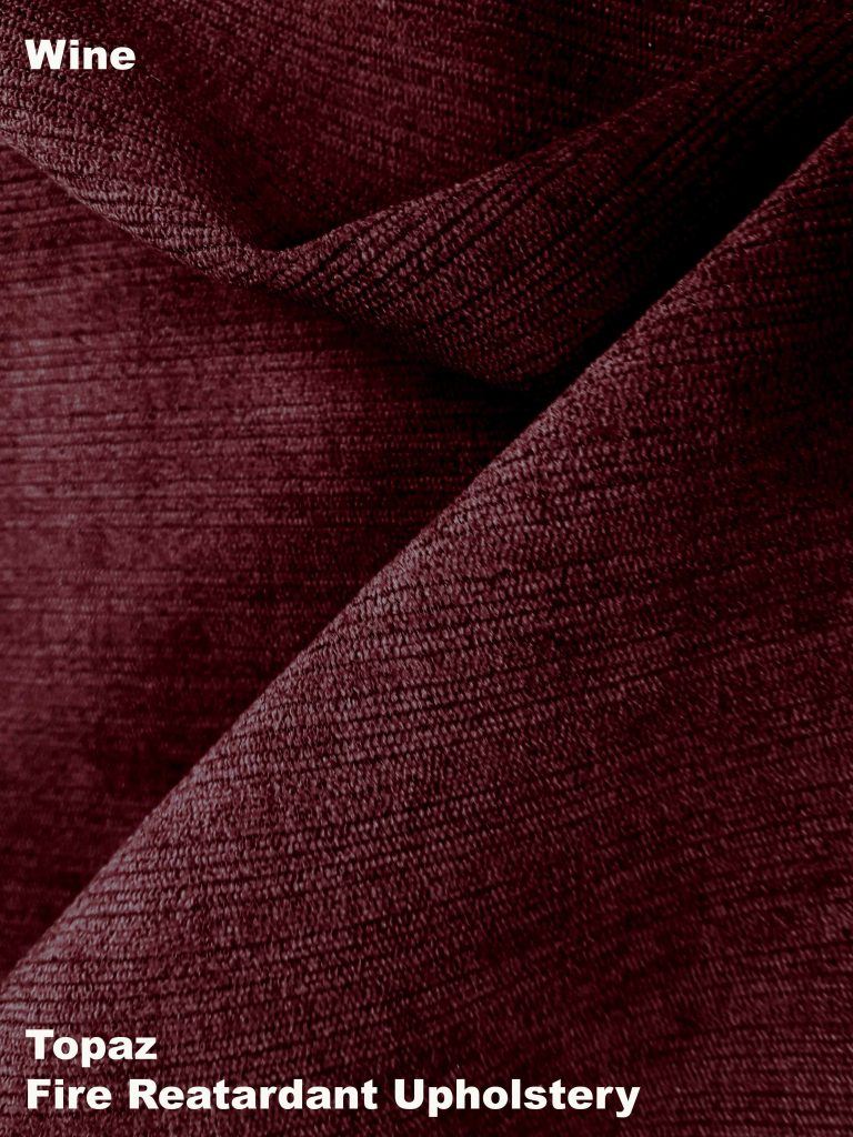 Wine Topaz upholstery fire retardant fabric