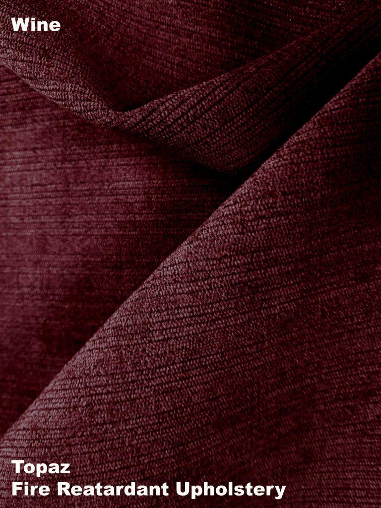 Wine Topaz upholstery fire retardant fabric