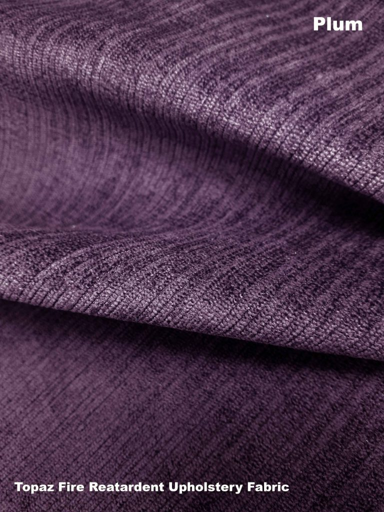 plum purple Topaz upholstery fire retardant fabric
