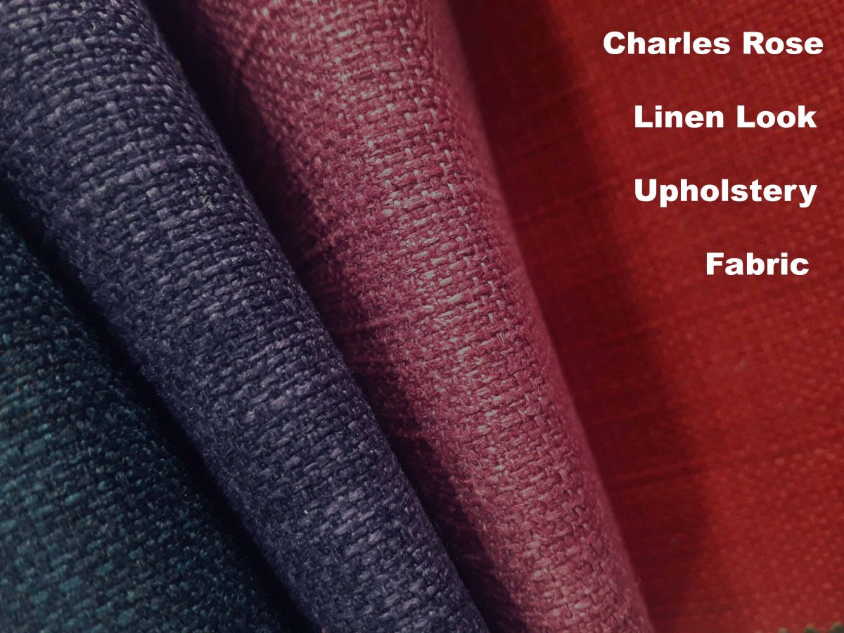 Charles Rose Linen Look Upholstery Collection.