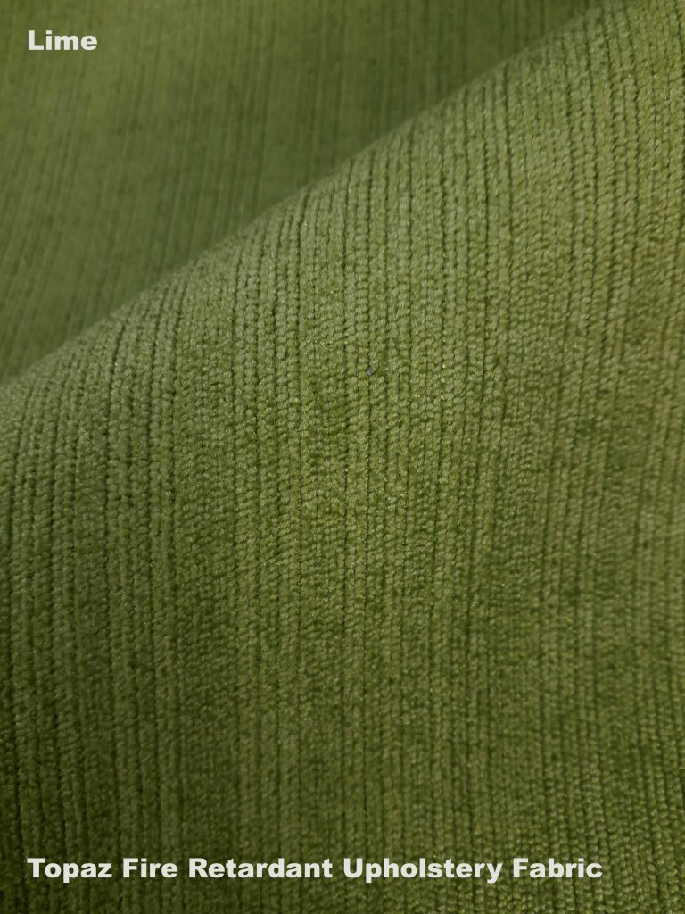 Lime green Topaz upholstery fire retardant fabric