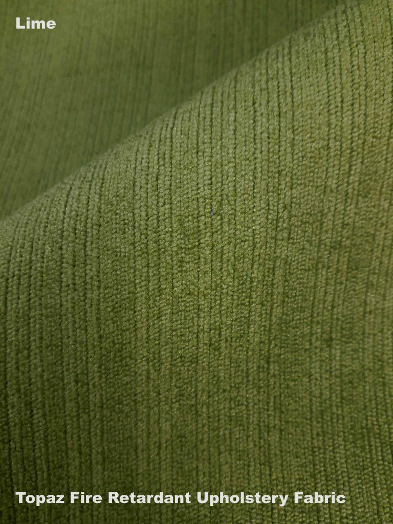 Lime green Topaz upholstery fire retardant fabric