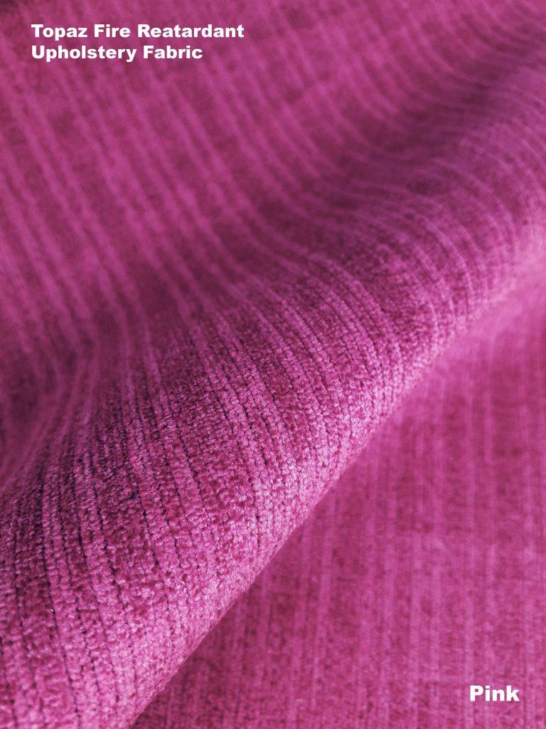 Pink Topaz upholstery fire retardant fabric