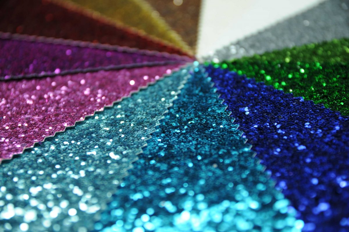 Glitter Fabric For Visual Merchandising and Display.
